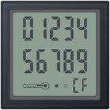 Digital count clock watch, with different numbers Stock Image