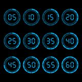 Digital-Count-downtimer mit einem fünf-Minute-Abstand vektor abbildung