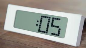 Digital Countdown Clock stock footage