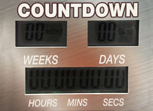 Digital countdown timer Stock Photos