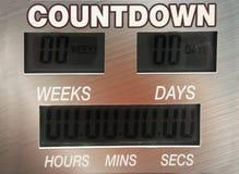 Digital countdown timer Stock Photos