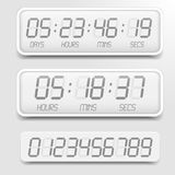 Digital Countdown Timer Stock Images