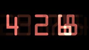 Digital countdown timer stock video