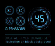Digital Countdown Timer Stock Image