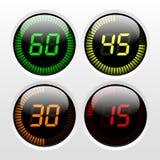 Digital Countdown Timer stock illustration