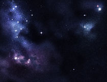 Digital created starfield Stock Photo