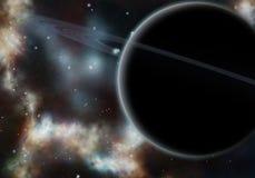 Digital created starfield with cosmic Nebula Stock Photos