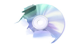 Digital creation. Laser disk tearing a white paper, illustration Royalty Free Stock Images