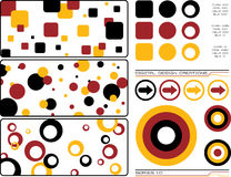 Digital creations 1. Collection of design elements all based around a theme that could also be used as a background royalty free illustration