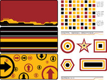 Digital creations 2. Collection of design elements that can be used to create a new image or as they are as a background vector illustration