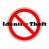 Digital Crime icon, Identity Theft. On white background vector illustration
