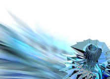 Digital Crystal 1 - design element. 3d Digital Background - Very Useful for various applications Royalty Free Stock Photos