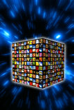 Digital cube Stock Image