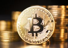 Digital currency Bitcoin Stock Photo