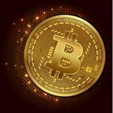 Digital currency bitcoin - vector concept illustration Graphic design. Digital currency bitcoin - vector concept illustration in 3d style. Investment money Stock Image