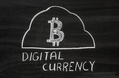 Digital currency Royalty Free Stock Image