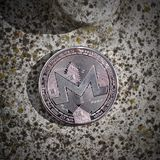 Silver Monero coin Royalty Free Stock Photo