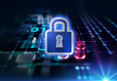 Digital cyber security system concept 3d illustration Stock Photo