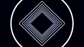 Digital-Cyber-Stadt-Partikel HUD Background mit Linien Muster mit Würfeln und Blitzlicht Retro- Hintergrund des Futurismus-80s Lizenzfreies Stockfoto