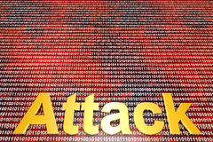 Digital cyberwojna i atak obraz stock