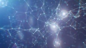 Digital, 3d übertrugen abstrakten Plexushintergrund Verbindungs- und Netzkonzept vektor abbildung