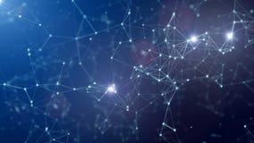 Digital, 3d übertrugen abstrakten Plexushintergrund Verbindungs- und Netzkonzept lizenzfreie abbildung