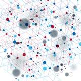 Digital 3d abstraktion för vektor, geometrisk polygonal perspektivingreppsillustration Arkivfoto