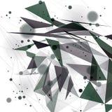 Digital 3d abstraktion för vektor, geometrisk polygonal perspektivingreppsillustration Arkivbild
