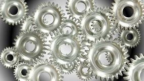 3D Animation of rotating Gears stock footage