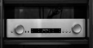 Digital d'argento ad alta fedeltà Front Amplifier fotografia stock