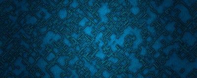 Digital illustration abstract material blue square shape background vector illustration