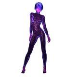 Digital 3D illustration av en sciencekvinnlig Royaltyfria Foton