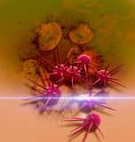 Digital 3d  illustration of  cancer cells in human body Royalty Free Stock Photo