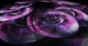 3d Illustration of Fairy Eyes. Digital 3d Illustration of Fairy Eyes Royalty Free Stock Images