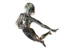 Digital 3D Illustration of a female Cyborg Stock Photography