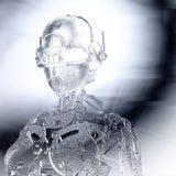 Digital Illustration of a Female Cyborg Relief Stock Photos
