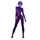 Digital 3D Illustration of a Science Fiction Female. Cutout on white Background Royalty Free Stock Photos