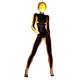 Digital 3D Illustration of a Science Fiction Female Royalty Free Stock Photography