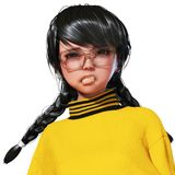 3D Illustration of a Toon Girl Royalty Free Stock Photography