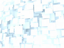 Digital 3d squares. Background made of 3d squares blue shade Royalty Free Stock Image