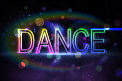 Digital dance text Stock Photos