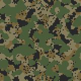 Digital dark woodland seamless camo Stock Photography