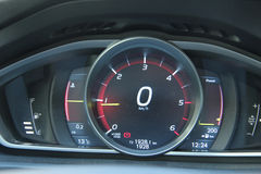 Digital dashboard of a modern car Stock Image