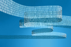 Digital data. Illustration of a digital data stream with a blue background Royalty Free Stock Images