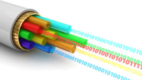 Digital data cable Stock Images
