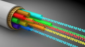Digital data cable Stock Photography