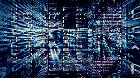 Digital Data Chaos 0341 Stock Photo