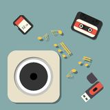 Digital data devices icon set vector illustration. Digital data devices icon set vector Stock Image