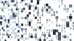 Digital data hex code with DOF Stock Photo