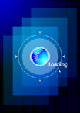 Digital data loading Stock Images
